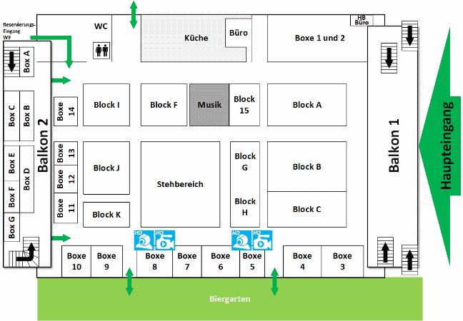 Zeltplan Hofbräu-Festzelt